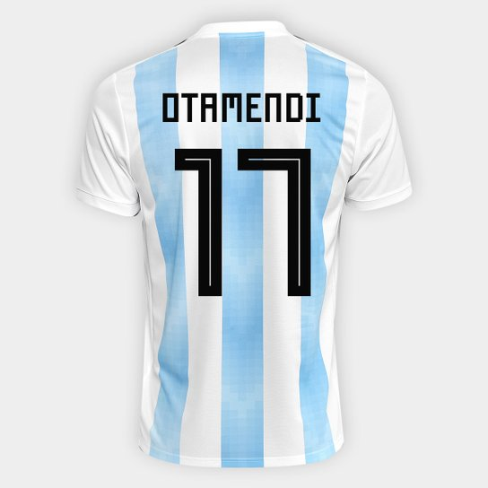 Camisa Seleção Argentina Home 2018 n° 17 Otamendi - Torcedor Adidas  Masculina - Branco+ 760e04c102d8a