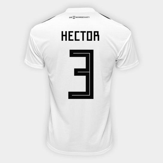 f140ecccd702f Camisa Seleção Alemanha Home 2018 n° 3 Hector - Torcedor Adidas Masculina -  Branco