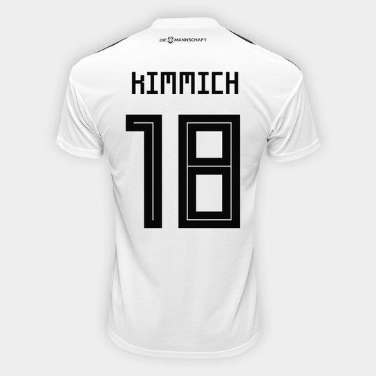 e3039a066 Camisa Seleção Alemanha Home 2018 n° 18 Kimmich - Torcedor Adidas Masculina  - Branco