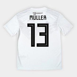 5a9555f2c3 Camisa Infantil Seleção Alemanha Home 2018 n° 13 Müller - Adidas Torcedor