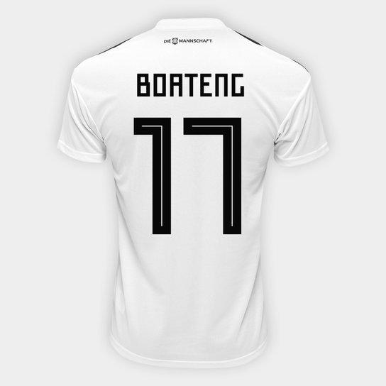 ... Camisa Seleção Alemanha Home 2018 n° 17 Boateng - Torcedor Adidas  Masculina - Branco 22b167cf058355 ... 183ac5db7957b