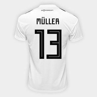 d457c7cc2 Camisa Seleção Alemanha Home 2018 n° 13 Müller - Torcedor Adidas Masculina