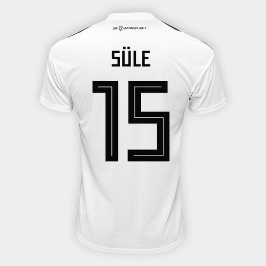 Camisa Seleção Alemanha Home 2018 n° 15 Süle - Torcedor Adidas Masculina -  Branco 981643722223f