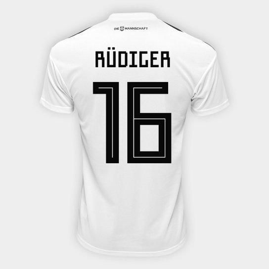 d8ea00c08 Camisa Seleção Alemanha Home 2018 n° 16 Rüdiger - Torcedor Adidas Masculina  - Branco