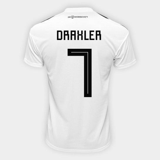 Camisa Seleção Alemanha Home 2018 n° 7 Draxler - Torcedor Adidas Masculina  - Branco db5670d1170