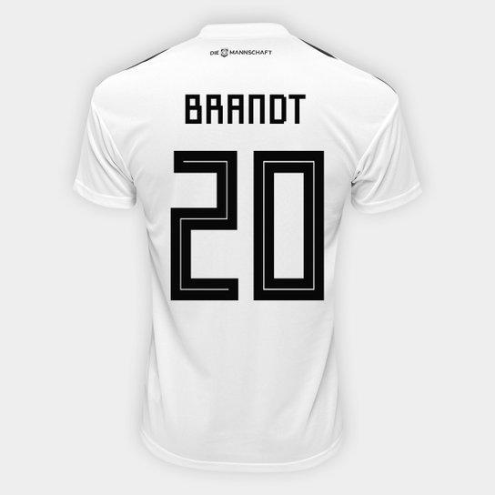 Camisa Seleção Alemanha Home 2018 n° 20 Brandt - Torcedor Adidas Masculina  - Branco 06ea0032a88