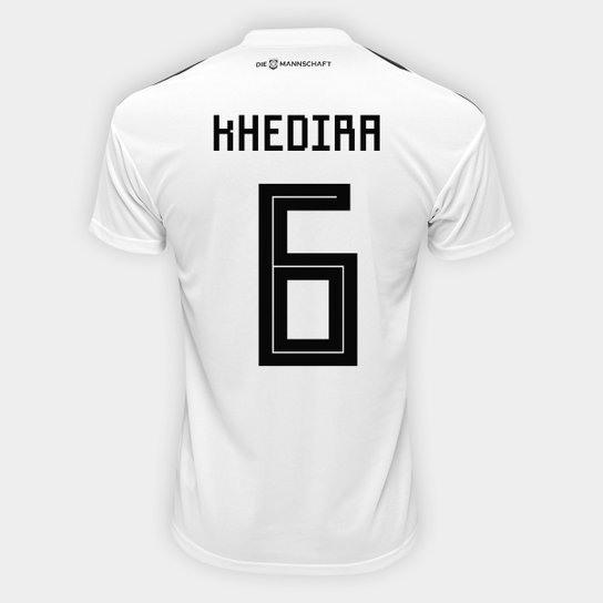 b55f3de3eac Camisa Seleção Alemanha Home 2018 n° 6 Khedira - Torcedor Adidas Masculina  - Branco