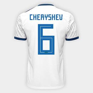 125ccef8a742f Camisa Seleção Rússia Away 2018 nº 6 Cheryshev - Torcedor Adidas Masculina