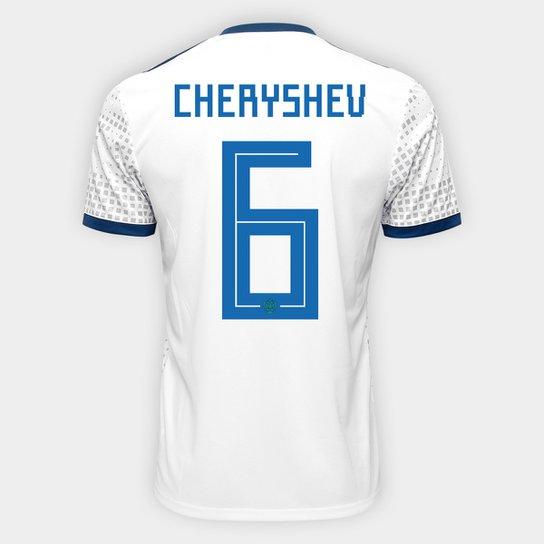 Camisa Seleção Rússia Away 2018 nº 6 Cheryshev - Torcedor Adidas Masculina  - Branco a9380e886eac2