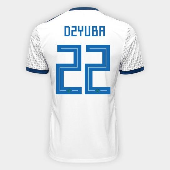 Camisa Seleção Rússia Away 2018 nº 22 Dzyuba - Torcedor Adidas Masculina -  Branco b6854a3375d71