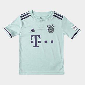 Camisa Bayern de Munique Infantil Away 2018 s n° - Torcedor Adidas f2de1011cd276