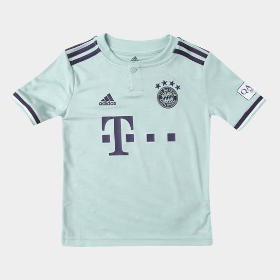 256b1819fc6ef Camisa Bayern de Munique Infantil Away 2018 s n° - Torcedor Adidas - Branco
