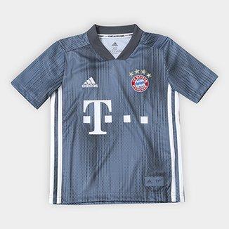 Camisa Infantil Bayern de Munique Third 2018 s n° - Torcedor Adidas c03649405aadb