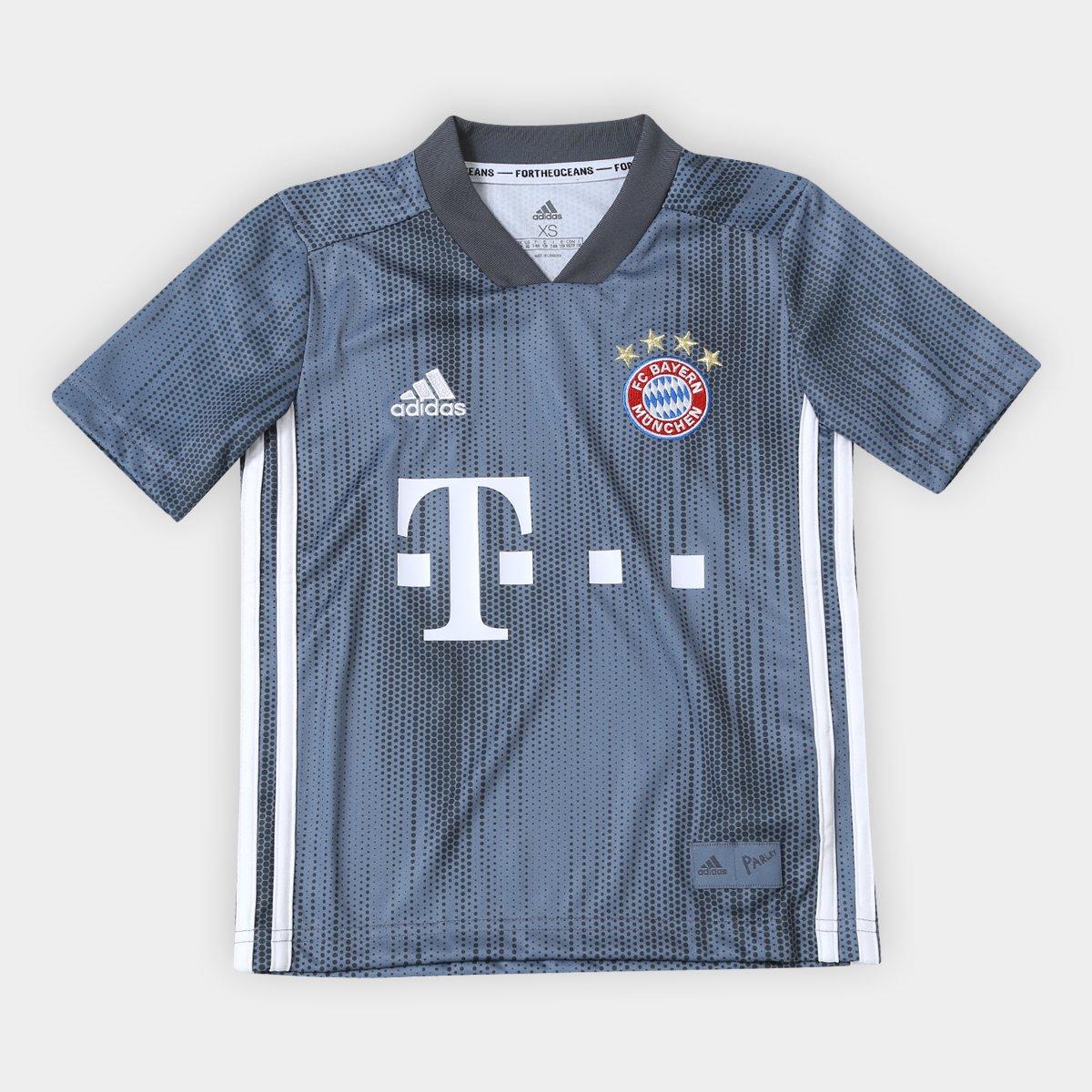 160ceb66a9b Camisa Infantil Bayern de Munique Third 2018 s n° - Torcedor Adidas ...