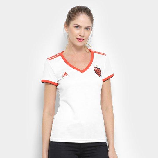 eead6b7dd3 Camisa Flamengo II 2018 s/n° - Torcedor Adidas Feminina - Branco ...