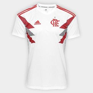 Camisa Flamengo Pré Jogo Adidas Masculina f7a01eb512c16