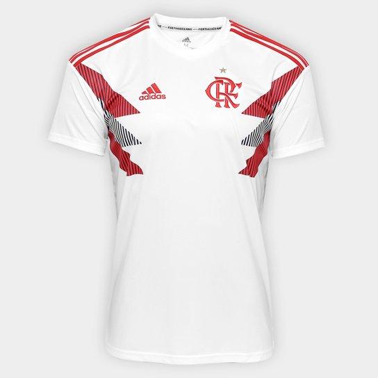 Camisa Flamengo Pré Jogo Adidas Masculina - Branco - Compre Agora ... f5b4fd7865c72