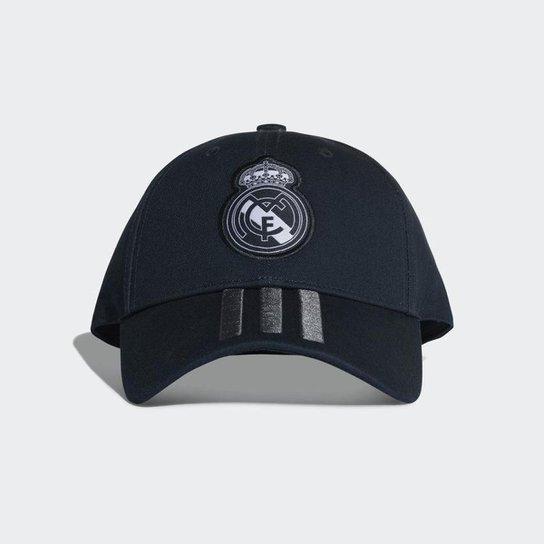 Boné Adidas Real Madrid 3Stripes Aba Curva Compre Agora Netshoes 53abcd48871