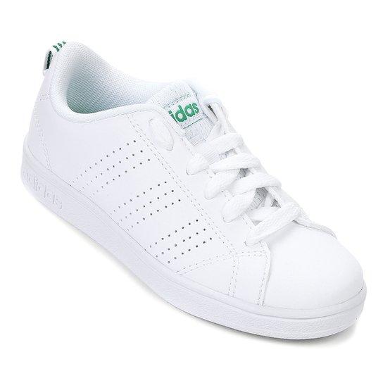 e9fe35976b Tênis Infantil Adidas Advantage Clean - Branco e Verde - Compre ...