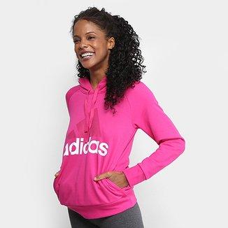115aeb0177 Moletom Adidas Essentials Linear Feminino