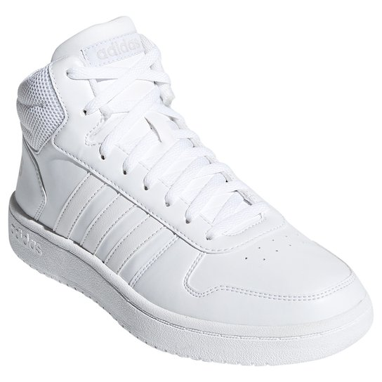 6780b68df3a Tênis Cano Alto Adidas Hoops 2.0 Mid Feminino - Branco - Compre ...