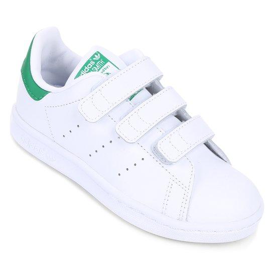 Tênis Adidas Stan Smith Cf C - Branco e Verde - Compre Agora  845506982b2eb