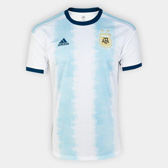 78c0a4c499cda Camisa Seleção Argentina Home 19/20 s/n° Torcedor Adidas Masculina - Branco