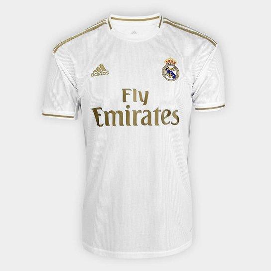 14139452c9 Camisa Real Madrid Home 19/20 s/n° Torcedor Adidas Masculina - Branco