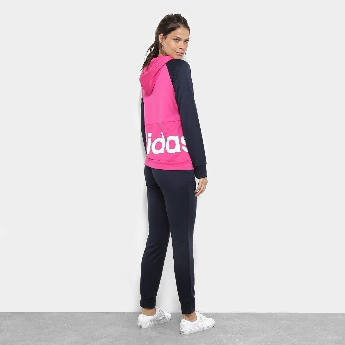 66642c6f33 Foto 2 - Agasalho Adidas Detalhe Logo WTS Lin Hood Feminino