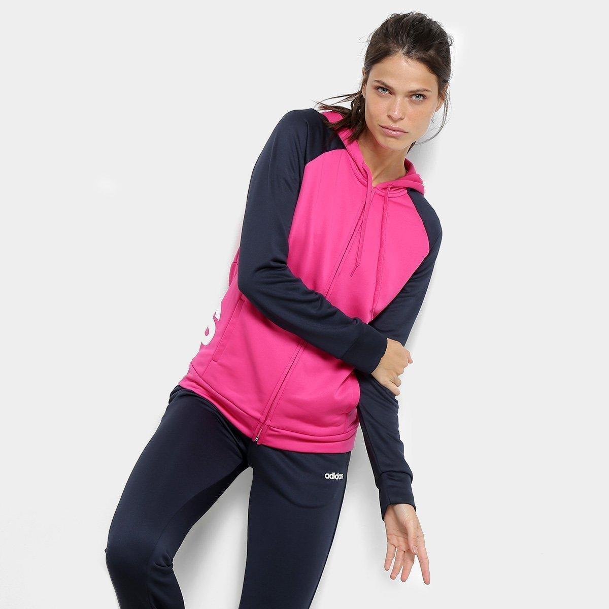 e2b7984b46 ... Conjunto Agasalho Adidas Detalhe Logo WTS Lin FT Hood Feminino - 2 ...