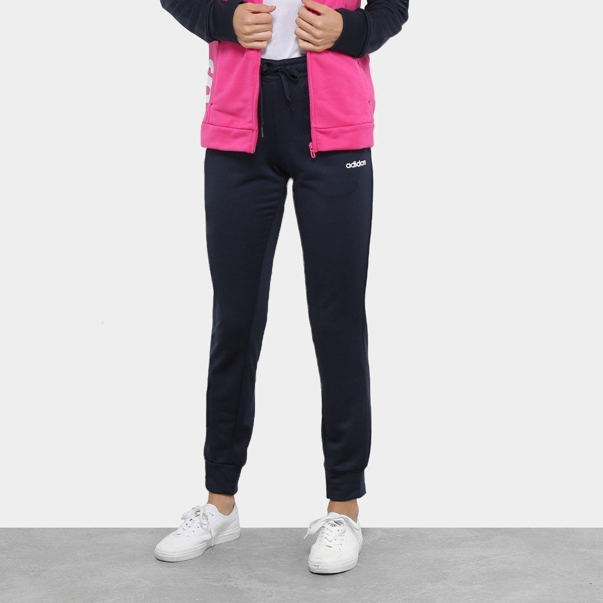 6d96863ab2 ... Conjunto Agasalho Adidas Detalhe Logo WTS Lin FT Hood Feminino - 3