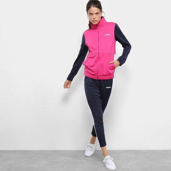 2a942fb53a8 Agasalho Adidas Wts Plain Tric Feminino - Pink e Marinho - Compre ...