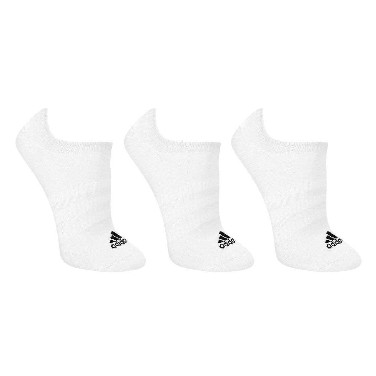 Meia Soquete Adidas Light Nosh c/ 3 Pares - Tam: 39/42