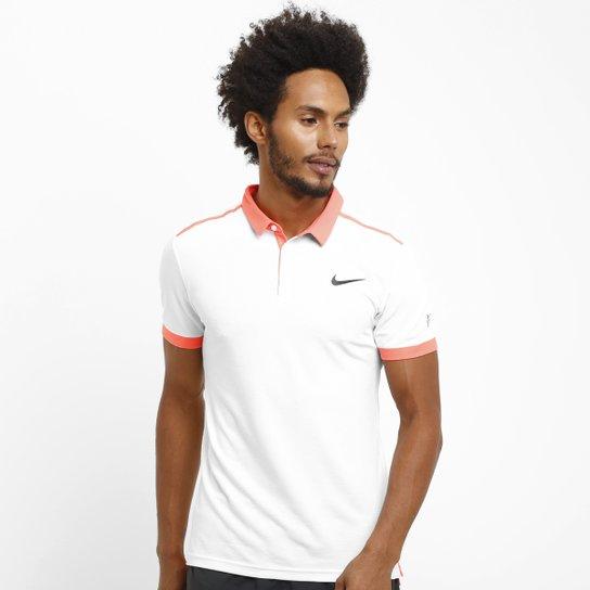 ec3184b203 Camisa Polo Nike Adv Premier RF - Branco+Laranja