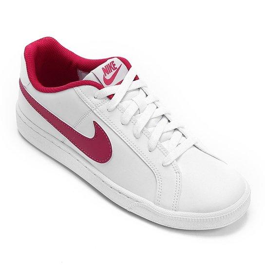 8909918856a Tênis Couro Nike Court Royale Feminino - Branco - Compre Agora ...