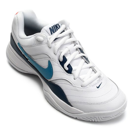 caeac3703bc Tênis Nike Court Lite Masculino - Branco e Verde - Compre Agora ...