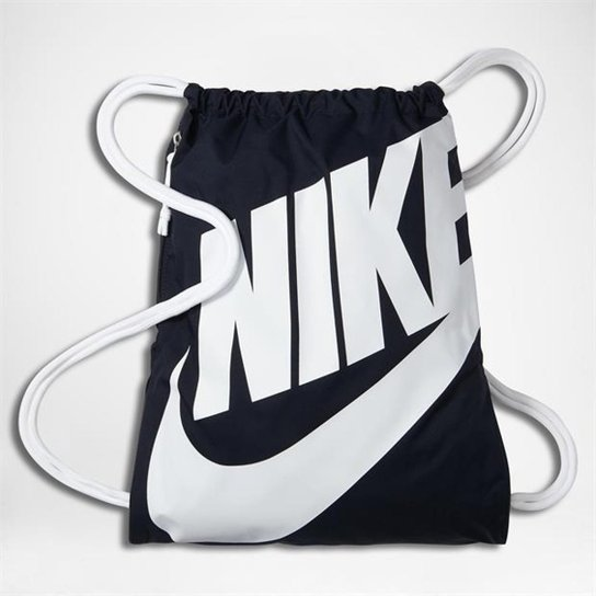46c2dd316 Sacola Nike Heritage Gymsack - Azul+Branco