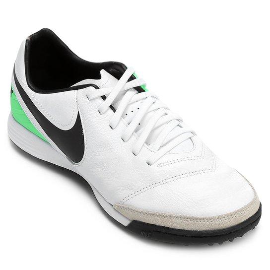 e9d04892d3 Chuteira Society Nike Tiempo Mystic 5 TF - Branco e Verde
