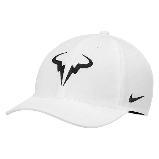Boné Nike Rafael Nadal Aba Curva - Branco - Compre Agora  b93568e68cd