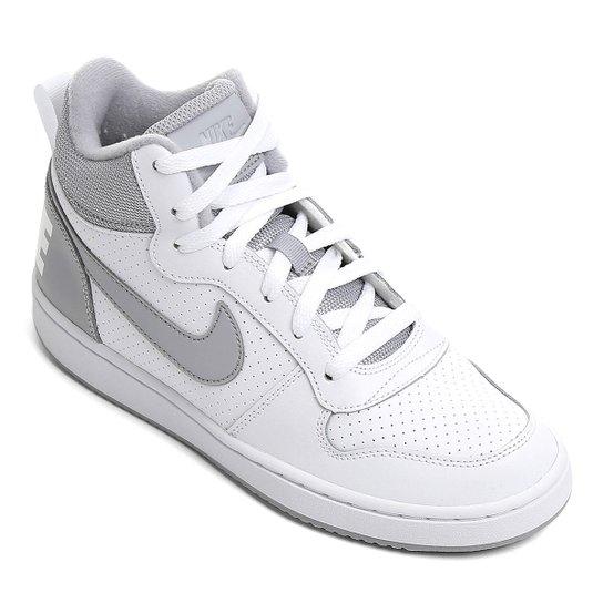 Tênis Infantil Nike Court Borough Mid Masculino - Branco e Cinza ... 2d290eae1df