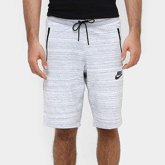 Bermuda Nike Av15 Short Knit Reta Masculina ab9e025d5e985