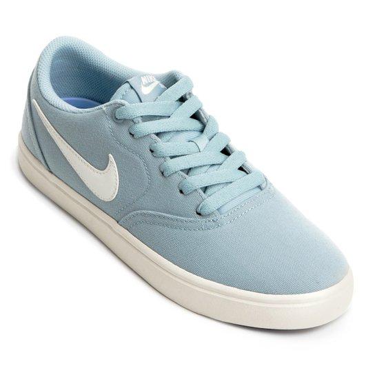Tênis Nike Wmns Sb Check Solar Cnvs Feminino - Azul Claro - Compre ... 95dca72956eef