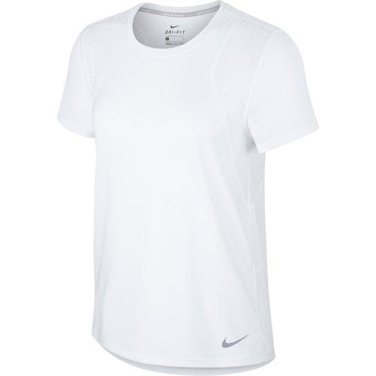 87a5fb0e62 Camiseta Nike Run Ss Feminina - Branco - Compre Agora