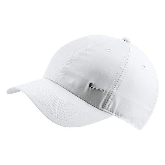 Boné Nike Aba Curva H86 Metal Swoosh - Branco - Compre Agora  0a0cf148211