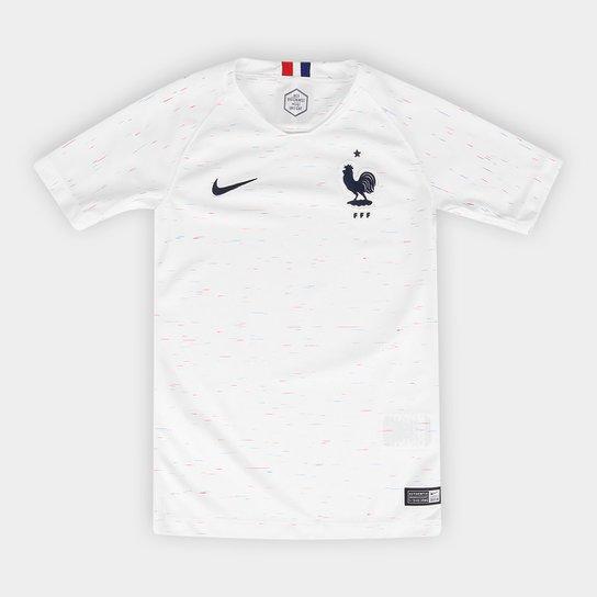 e09ef585b13bc Camisa Seleção França Juvenil Away 2018 s n° - Torcedor Nike - Branco