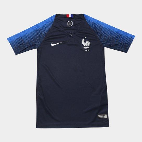 60f35c53d0 Camisa Seleção França Juvenil Home 2018 s n° - Torcedor Nike - Azul