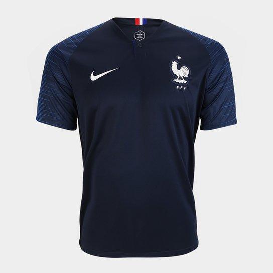 Camisa Seleção França Home 2018 s n° Torcedor Nike Masculina - Azul 6f07fc2b524a5