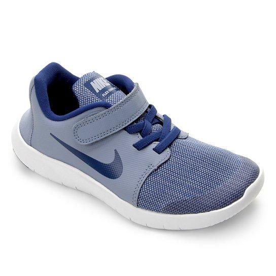 07686b7153ac1 Tênis Infantil Nike Flex Contact 2 - Azul Claro e Branco - Compre ...