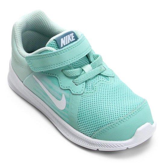 Tênis Infantil Nike Downshifter 8 Gtv Com Velcro Feminino - Verde+Branco 6c66beba3ecc8