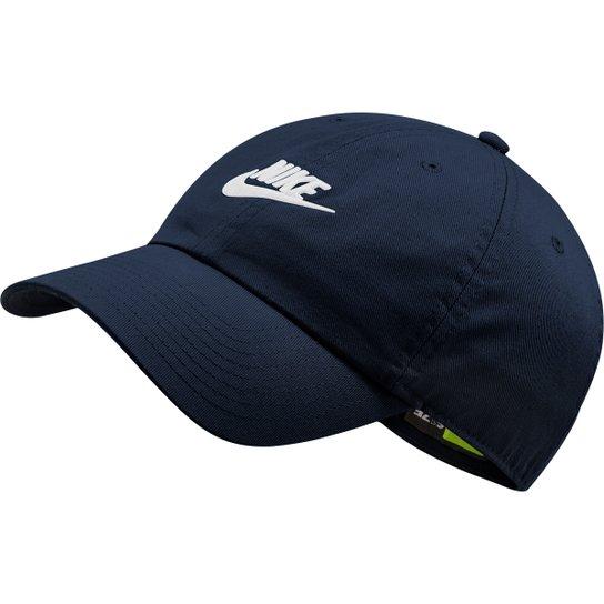 b2e26b423f2a2 Boné Nike Aba Curva U Nsw H86 Futura Washed - Marinho - Compre Agora ...